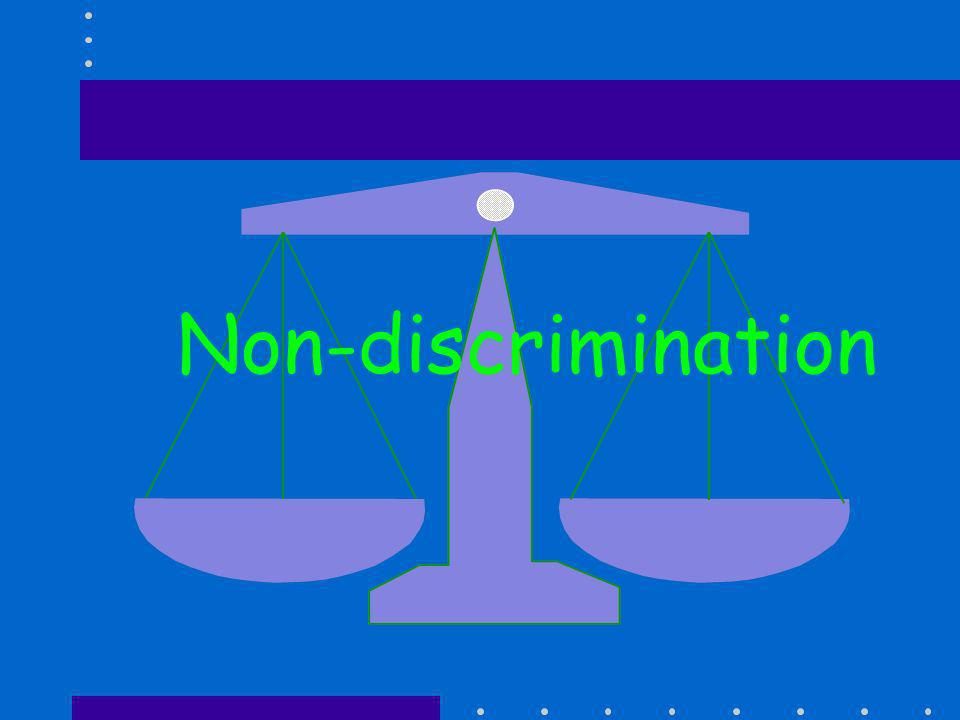 Non-discrimination