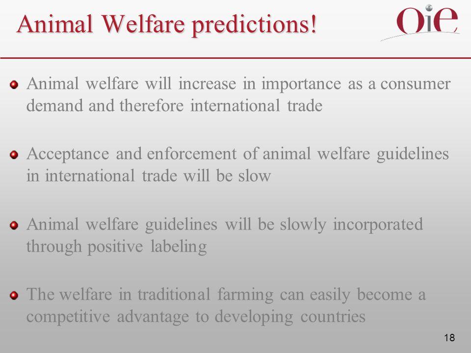 18 Animal Welfare predictions.