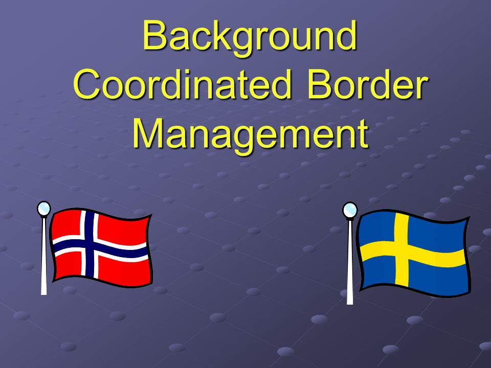 Background Coordinated Border Management