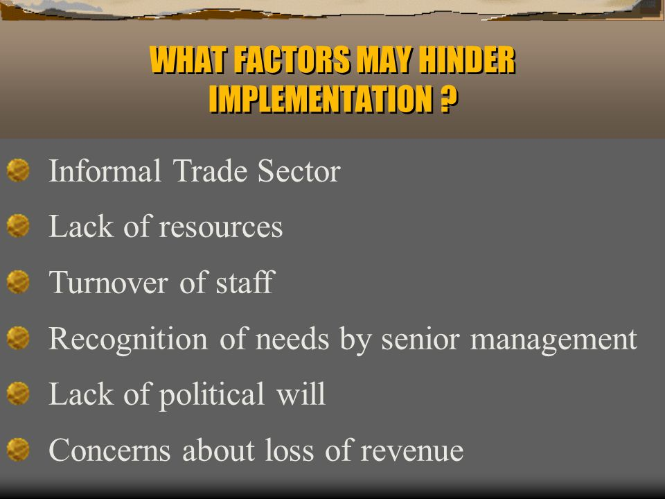 CAN TECHNICAL ASSISTANCE SEEK TO ADDRESS THESE FACTORS .