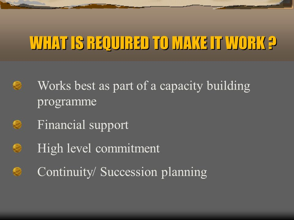 WHAT IS REQUIRED TO MAKE IT WORK .