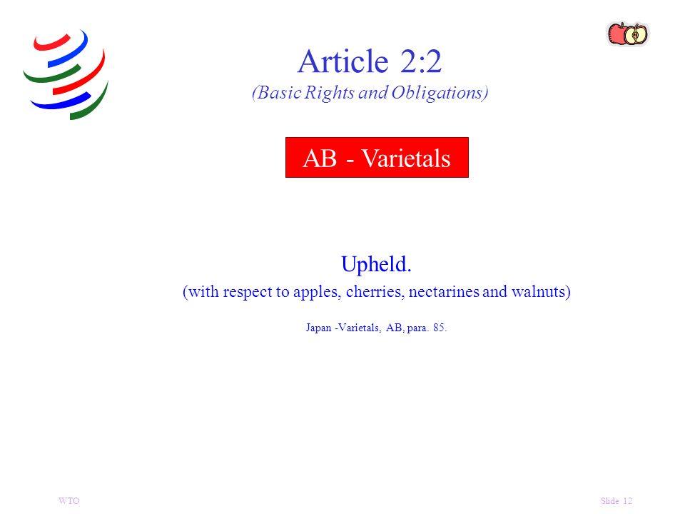 WTOSlide 12 AB - Varietals Upheld.