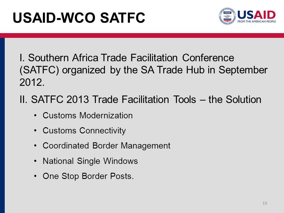 USAID-WCO SATFC I.