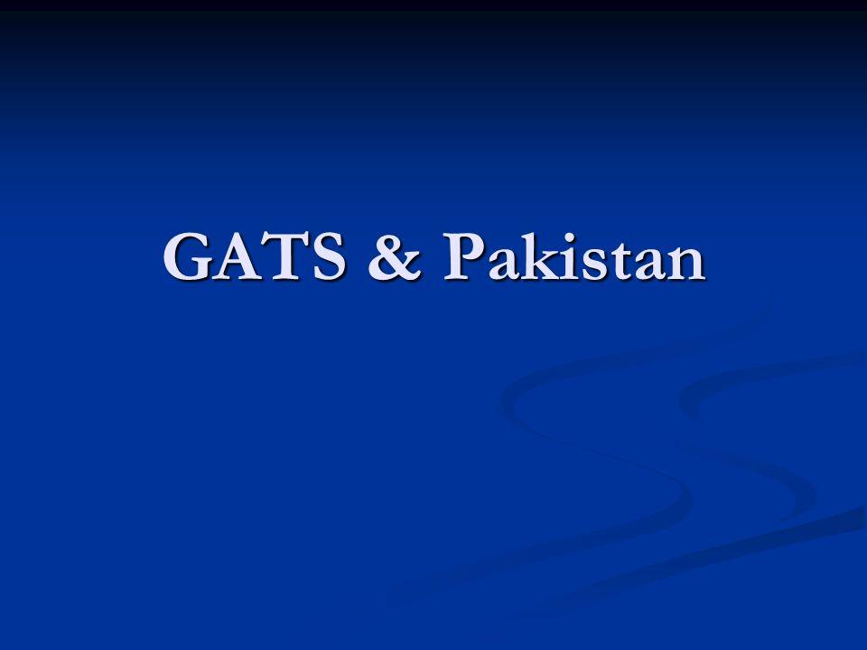 GATS & Pakistan