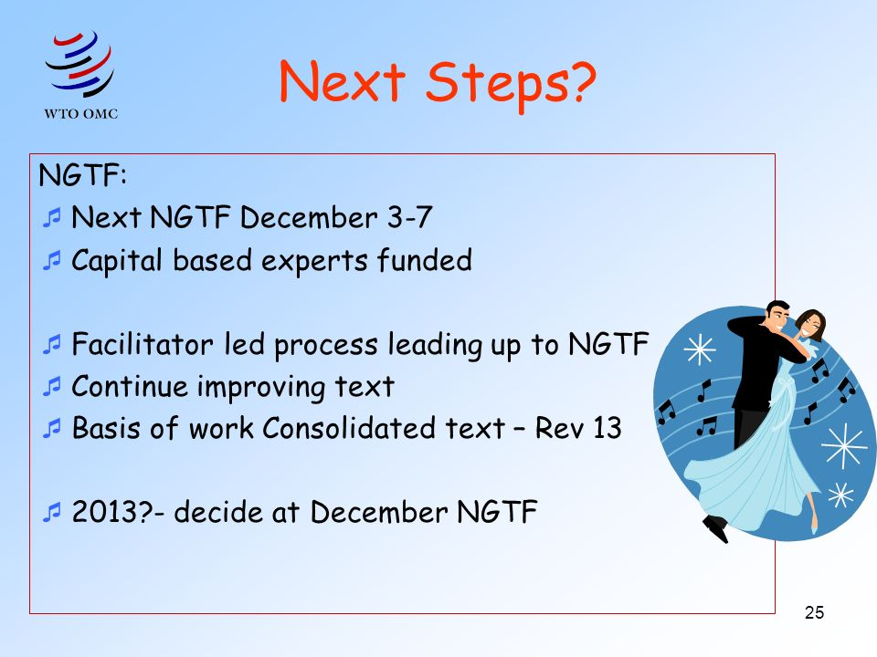 Are we there yet? 8 years 48 NGTF meeting weeks >100 Facilitator-led meetings 150 proposed texts 1 Consolidated text 32 versions compilation/consolida