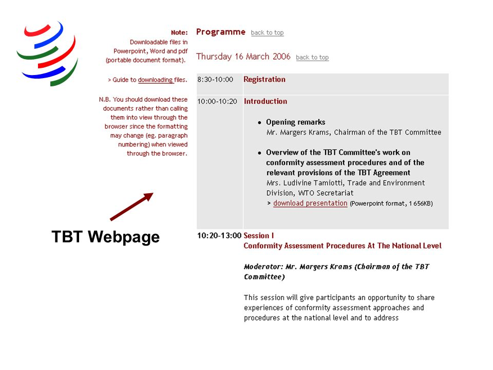 TBT Webpage