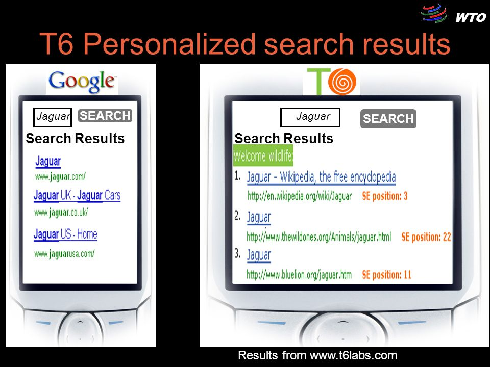 WTO 8 Search Results Jaguar SEARCH T6 Personalized search results Search Results Jaguar SEARCH Results from www.t6labs.com