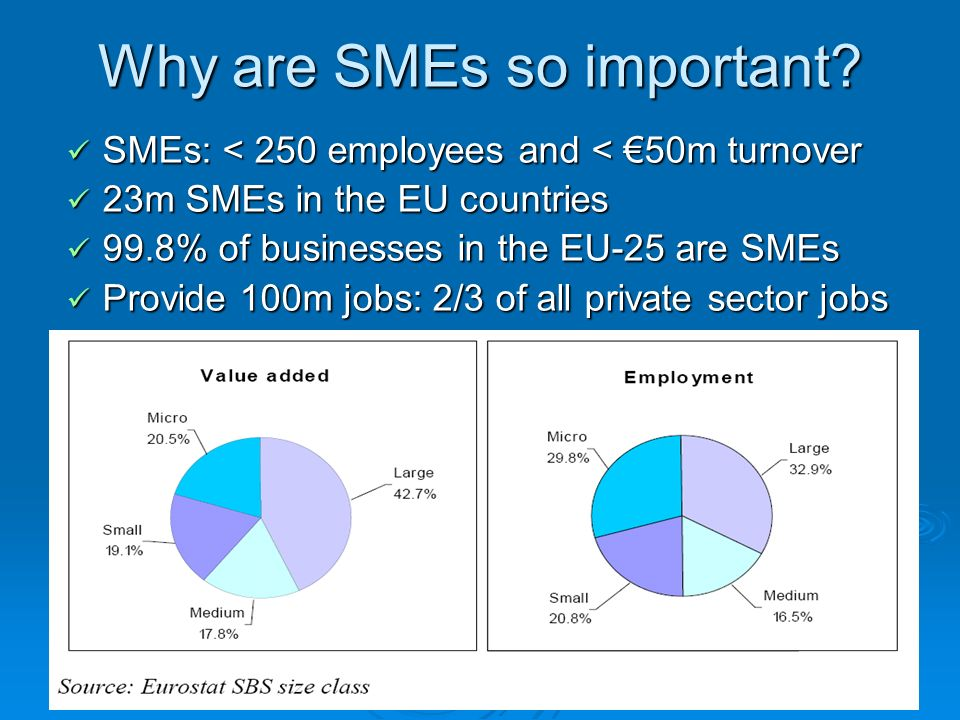Why are SMEs so important.