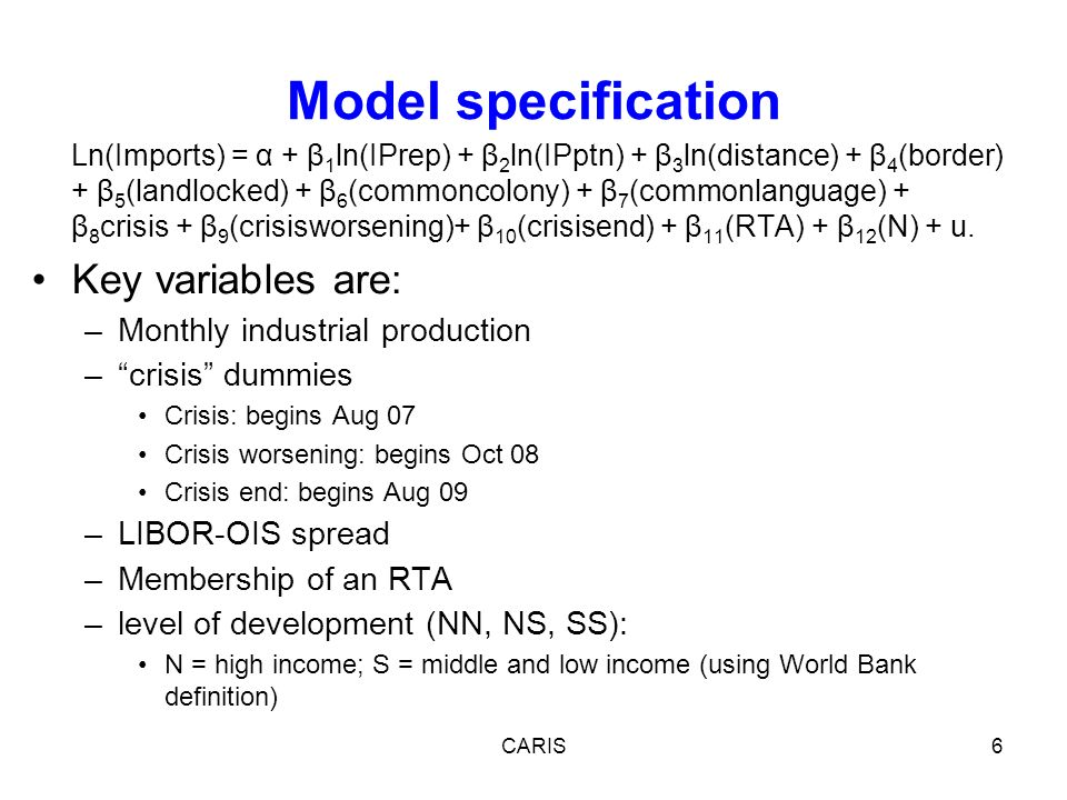 17 Summary Note constrained nature of sample therefore results may be dominated by EU effects so need to be careful in drawing conclusions Policy points to the importance of aggregate demand measures + access to trade finance (+ resisting protection) + the need to understand better why RTA members see a bigger decline and in particular the role of supply chain integration in this.