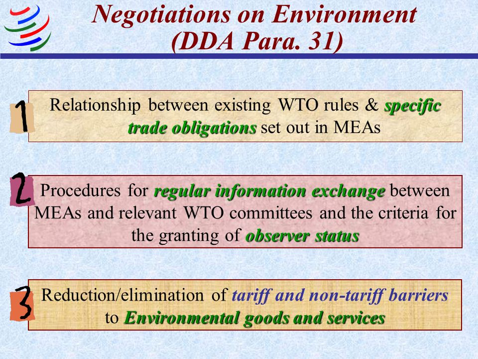 Negotiations on Environment (DDA Para.