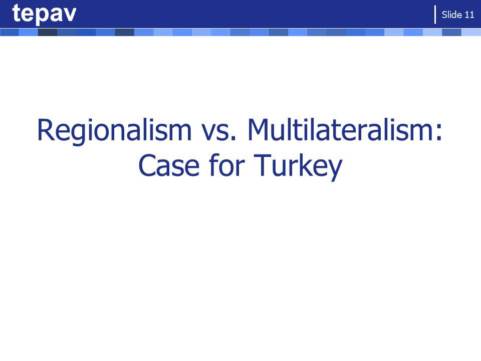 Regionalism vs. Multilateralism: Case for Turkey Slide 11