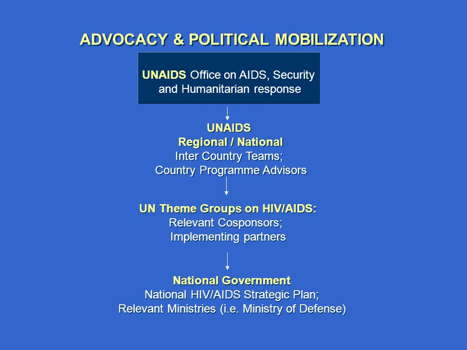 National Government National HIV/AIDS Strategic Plan; Relevant Ministries (i.e.