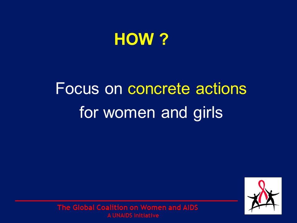 The Global Coalition on Women and AIDS A UNAIDS Initiative 3.Protect the property ownership and inheritance rights of women and girls