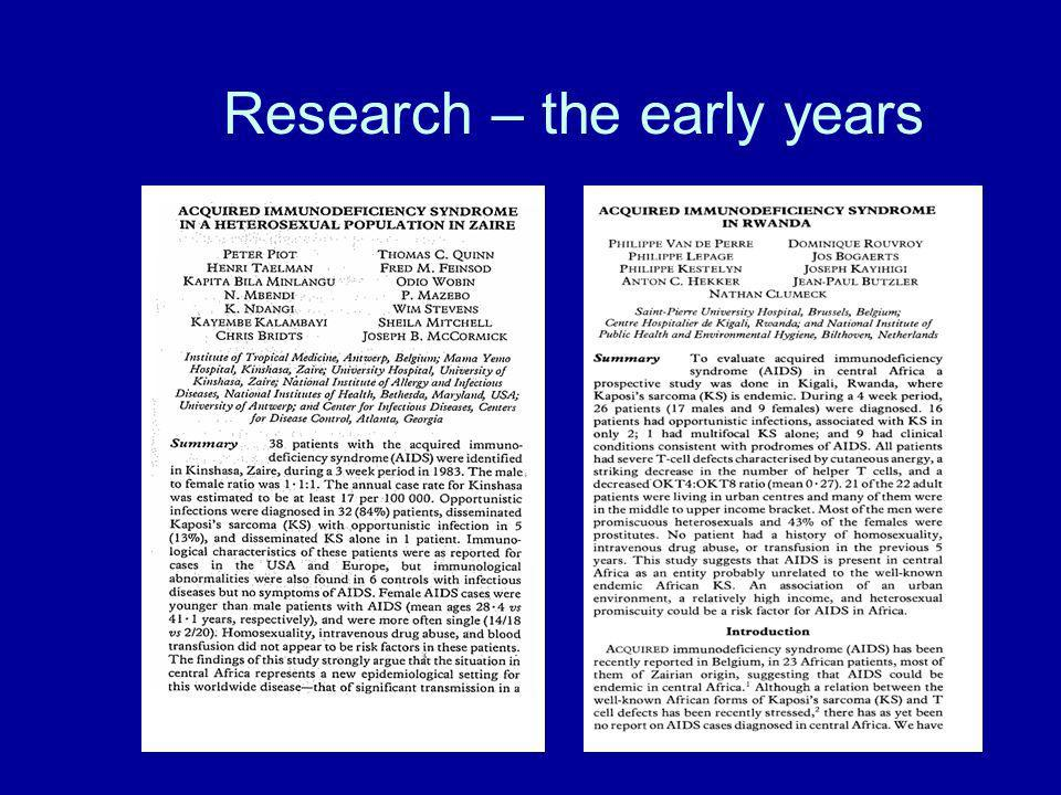 Research – the early years