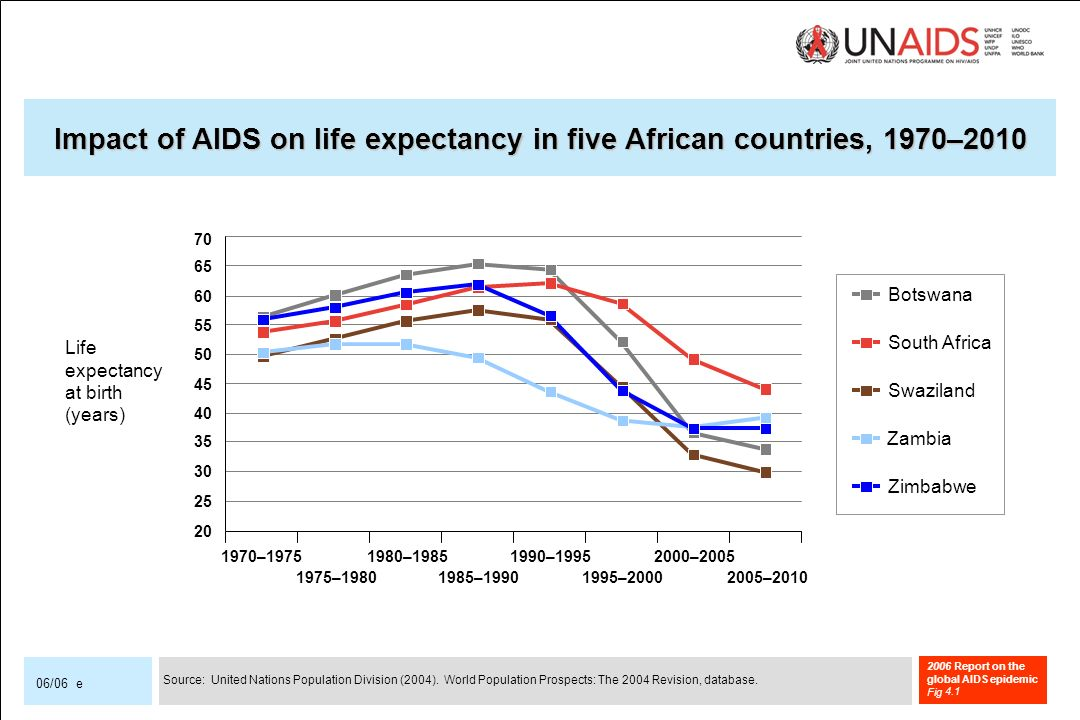 2006 Report on the global AIDS epidemic Fig 06/06 e