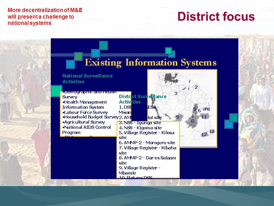 District focus More decentralization of M&E will present a challenge to national systems