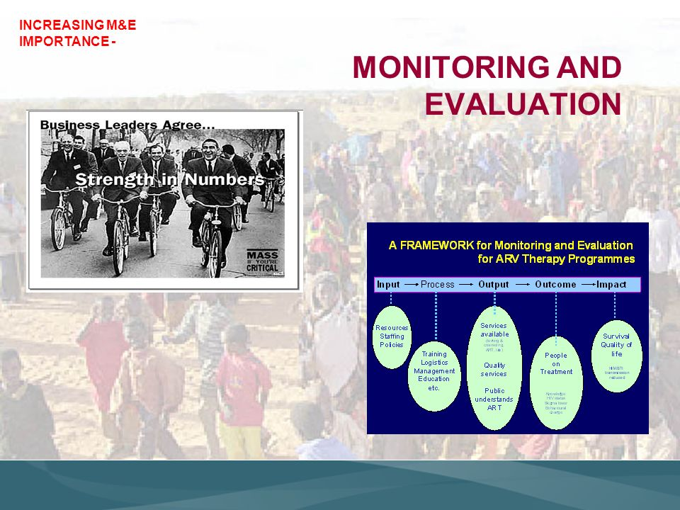 MONITORING AND EVALUATION INCREASING M&E IMPORTANCE -