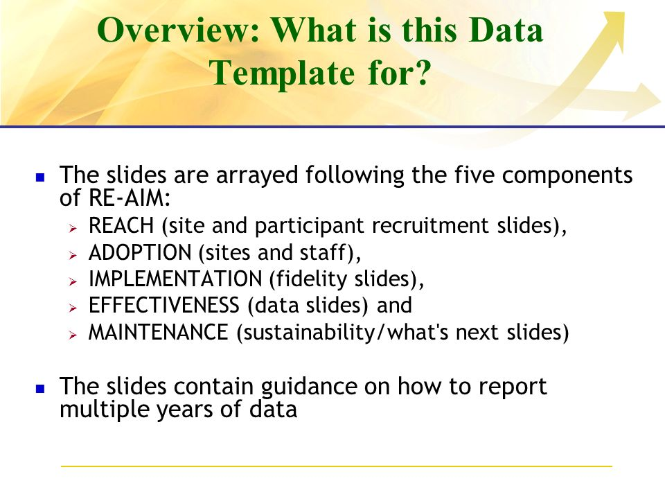 Overview: What is this Data Template for.