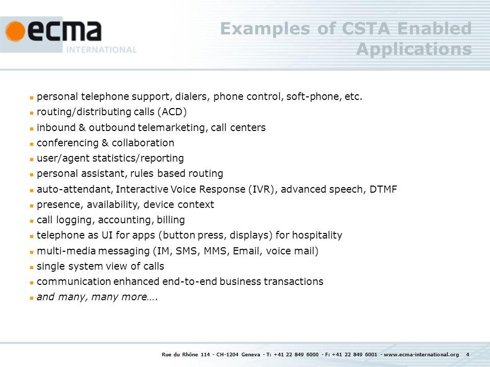 ECMA-323 Examples: Monitoring a device 22343 Rue du Rhône 114 - CH-1204 Geneva - T: +41 22 849 6000 - F: +41 22 849 6001 - www.ecma-international.org 15