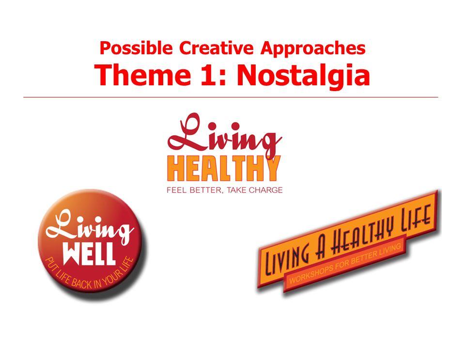 24 Possible Creative Approaches Theme 1: Nostalgia