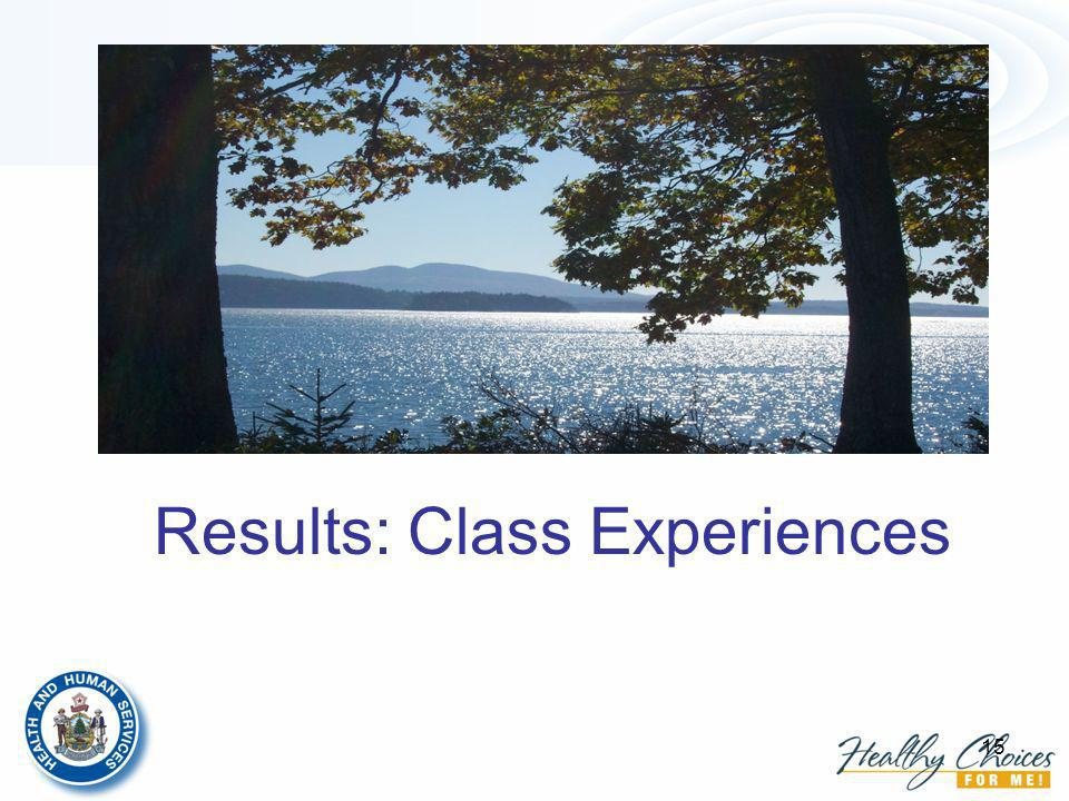 15 Results: Class Experiences