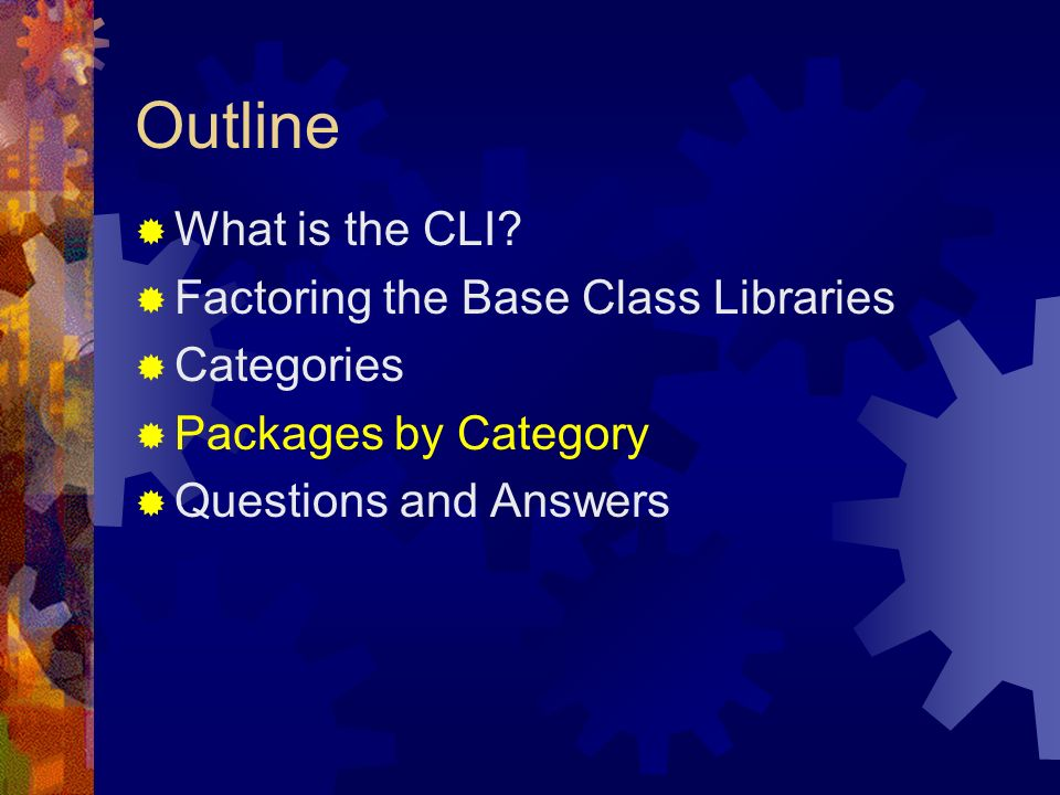 Outline What is the CLI.