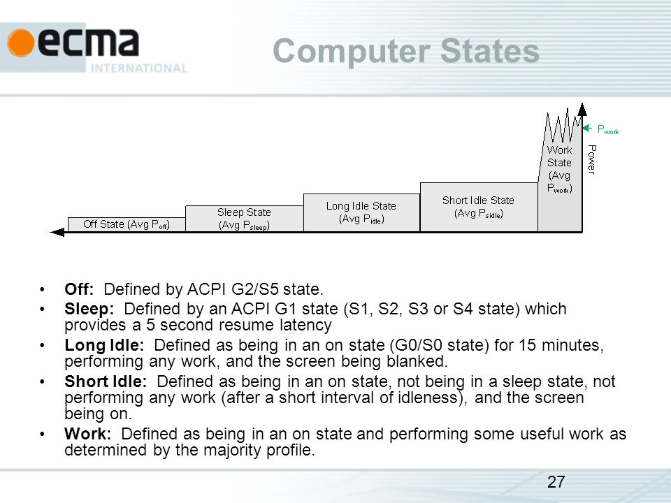Computer States Off: Defined by ACPI G2/S5 state.