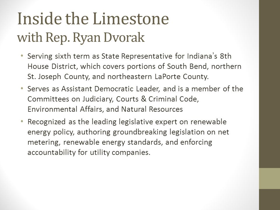 Inside the Limestone with Rep.