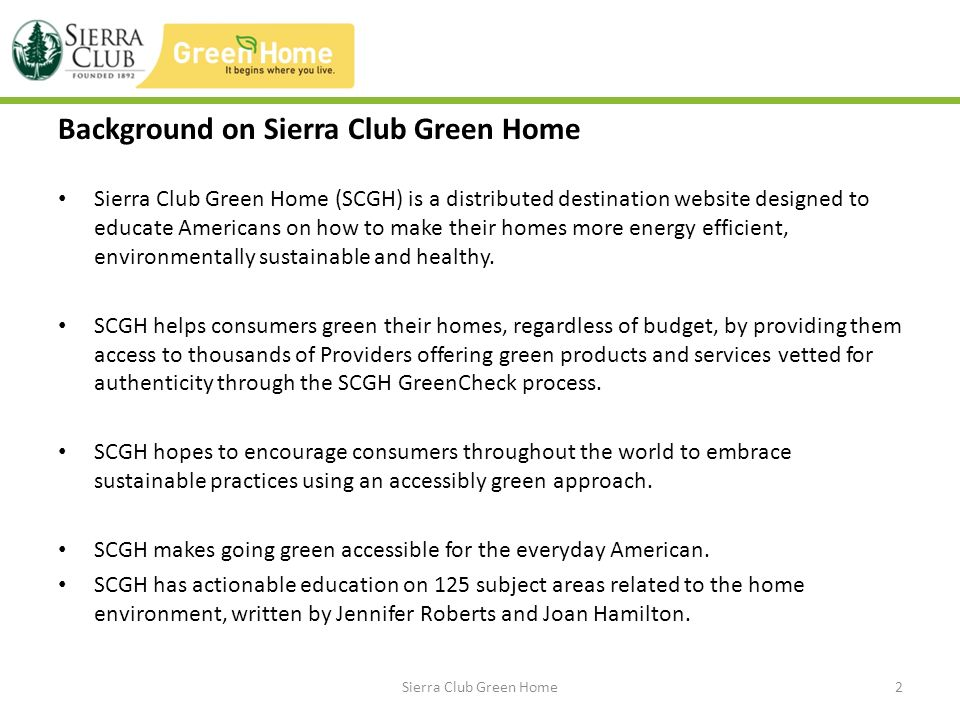 Features of Site National Green Provider Database – SCGH GreenCheck offers consumers peace of mind that the companies and brands theyre doing business with are making legitimate and mindful efforts to offer products or services that are more sustainable than what is commonly available.