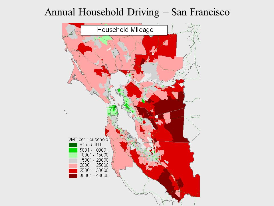 Annual Household Driving – San Francisco