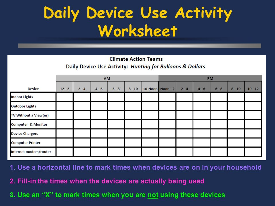 Daily Device Use Activity Worksheet 2.