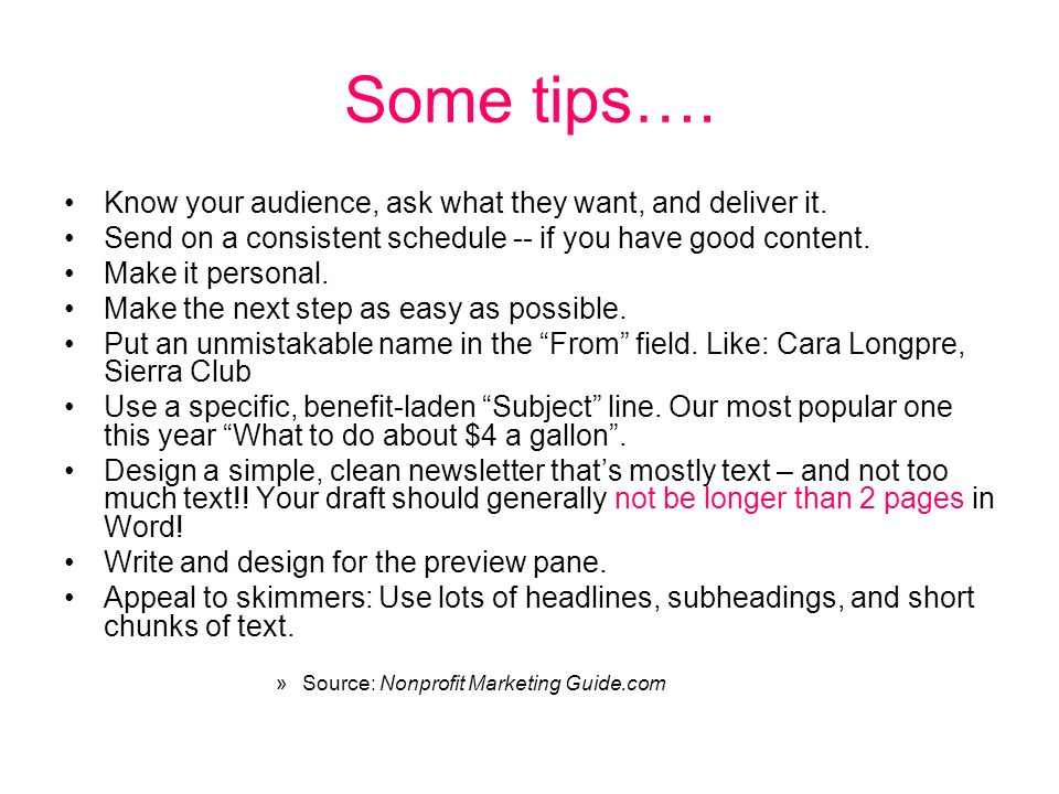 Some tips…. Know your audience, ask what they want, and deliver it.