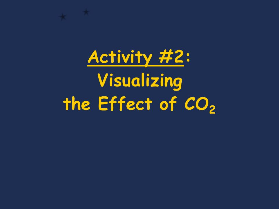 Activity #2: Visualizing the Effect of CO 2