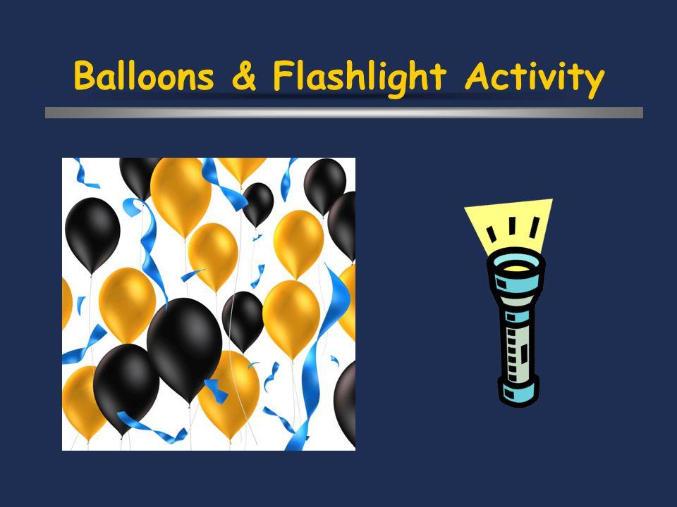 Balloons & Flashlight Activity