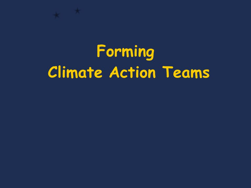 Forming Climate Action Teams