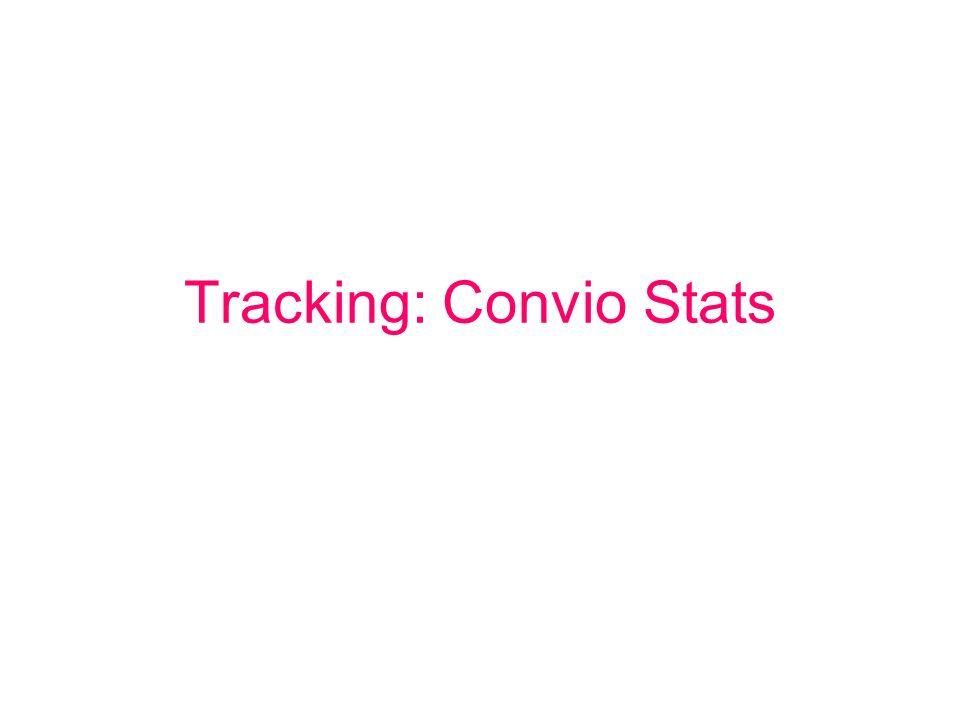Tracking: Convio Stats