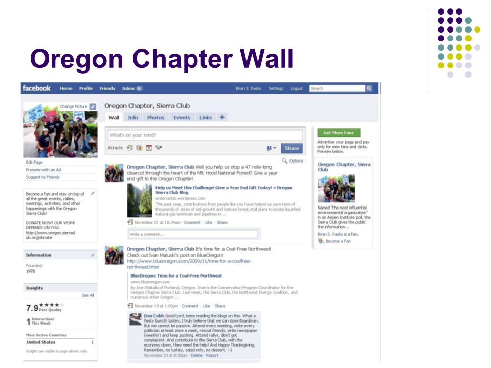 Oregon Chapter Wall