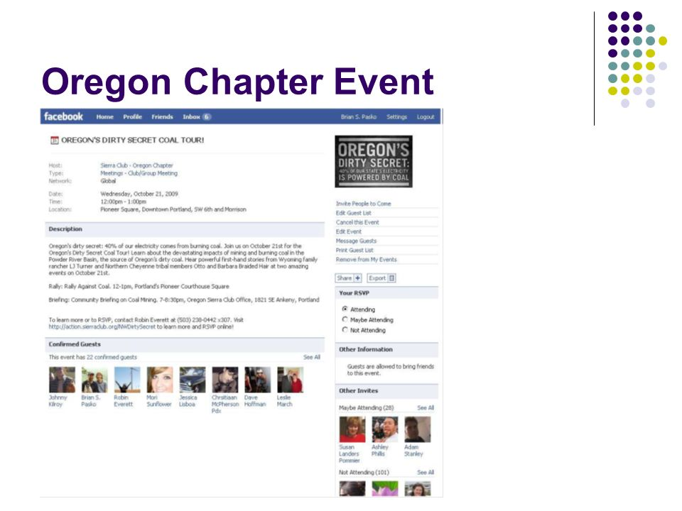 Oregon Chapter Event