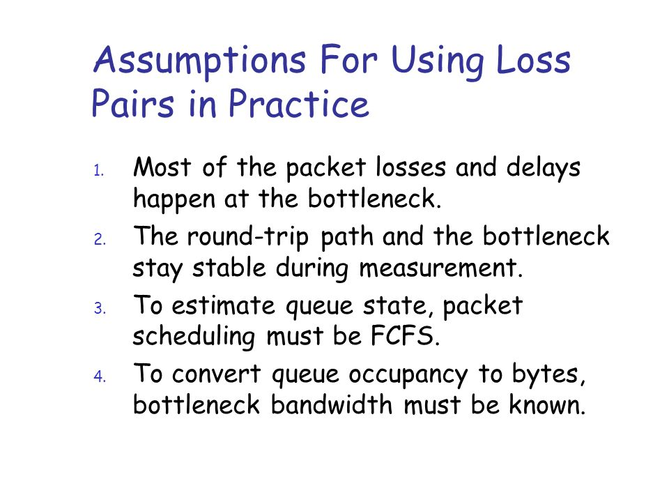 Assumptions For Using Loss Pairs in Practice 1.