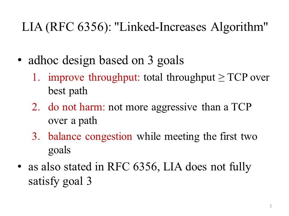 LIA (RFC 6356):