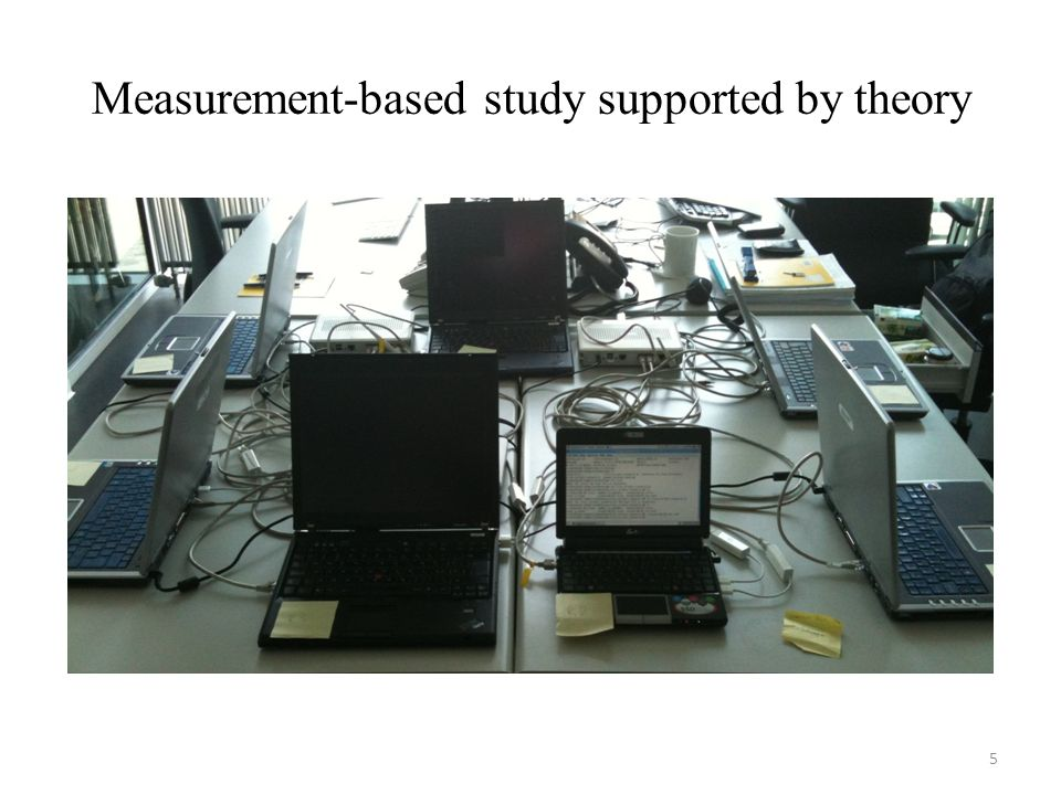 Measurement-based study supported by theory 5