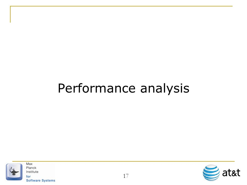 Performance analysis 17