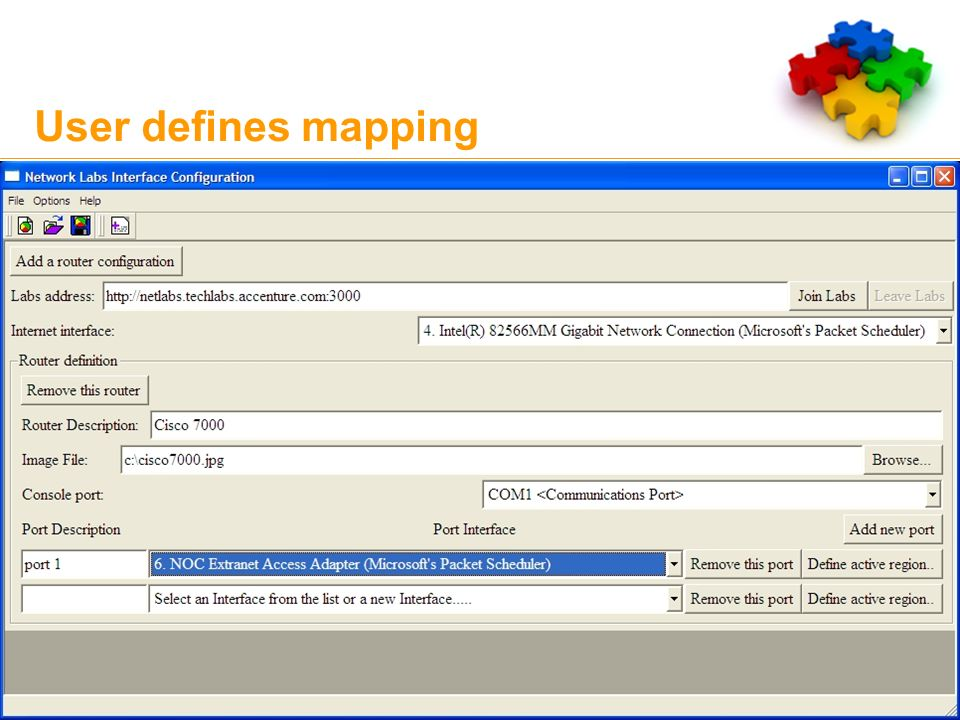 User defines mapping 9 Copyright © 2007 Accenture All Rights Reserved.