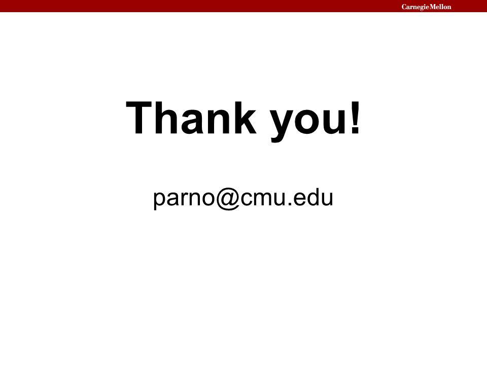 Thank you! parno@cmu.edu