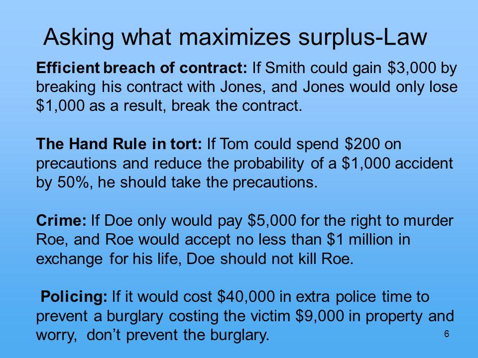 7 Six Approaches to Punishment 1.Economic, Surplus-Maximizing 2.