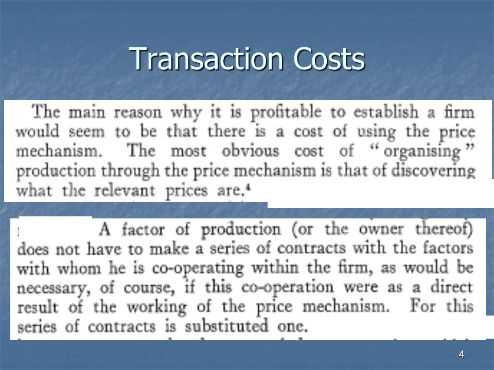 4 Transaction Costs
