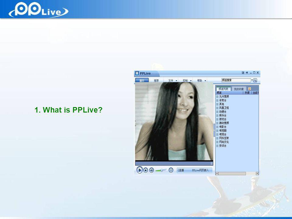 Private & Confidential 1. What is PPLive