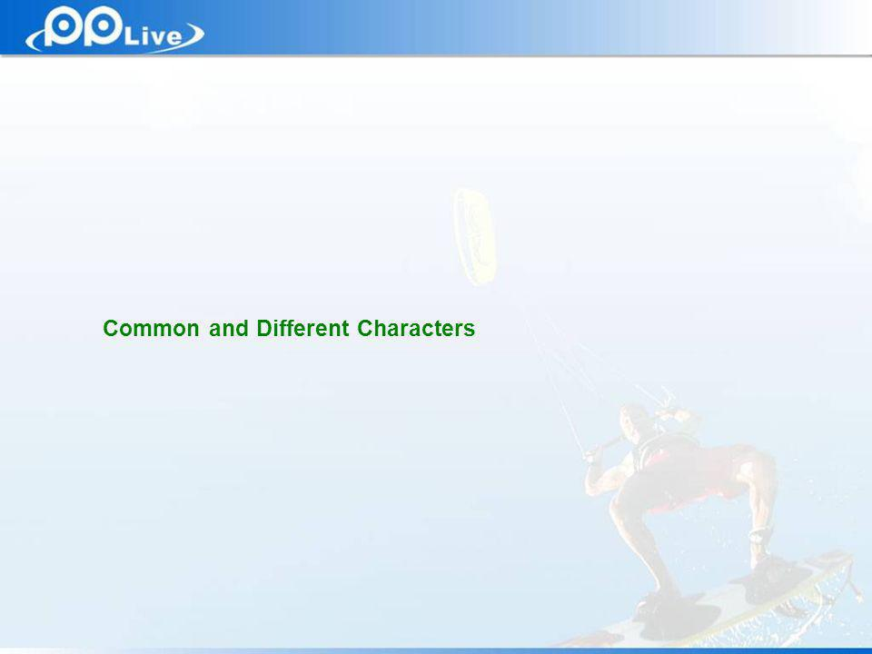 Private & Confidential Common and Different Characters