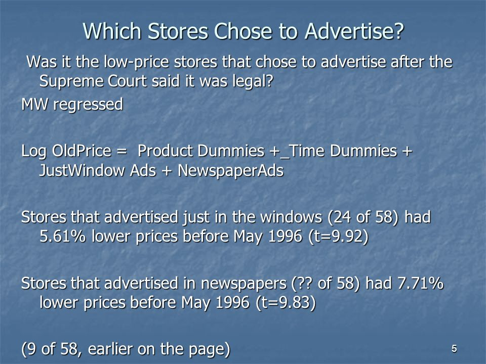 5 Which Stores Chose to Advertise.