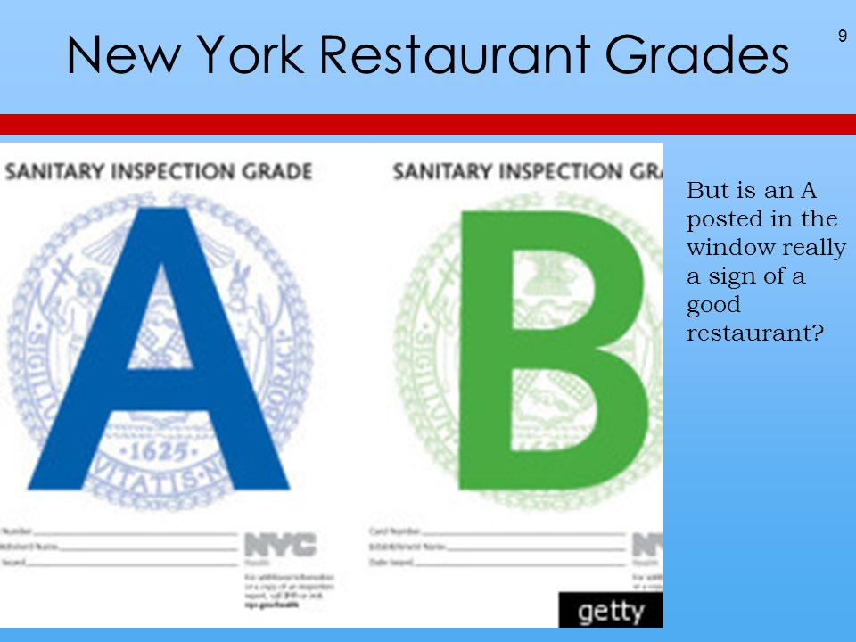 New York Restaurant Grades 9 But is an A posted in the window really a sign of a good restaurant?